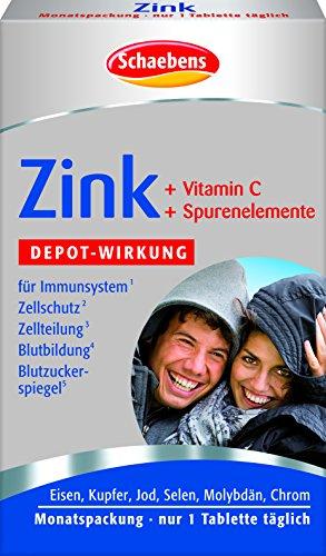 Schaebens Zink und C plus 6 Spurenelemente, 1er Pack (1 x 30 Stück)