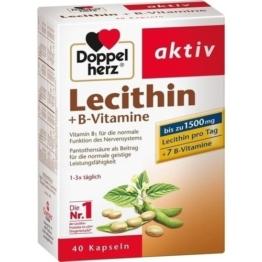 DOPPELHERZ Lecithin+B-Vitamine Kapseln 40 St.