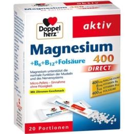 DOPPELHERZ Magnesium+B Vitamine DIRECT Pellets 20 St.