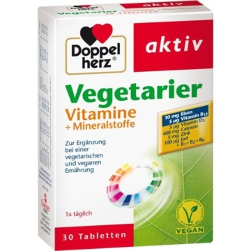 DOPPELHERZ Vegetarier Vitamine+Mineralstoffe Tabl. 30 St.