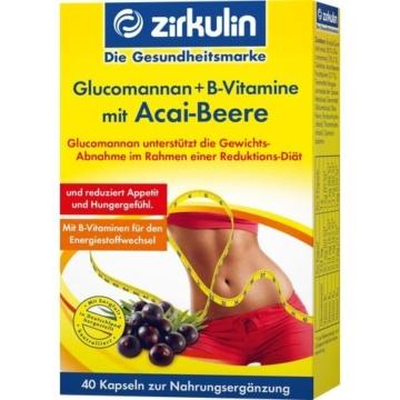 GLUCOMANNAN+B-Vitamine mit Acai-Beere Kapseln 40 St.