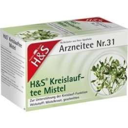 H&S Kreislauftee Mistel Filterbeutel 20X2.0 St.