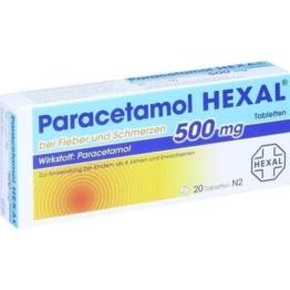 PARACETAMOL 500 mg HEXAL b.Fieber u.Schmerzen Tab. 20 St.